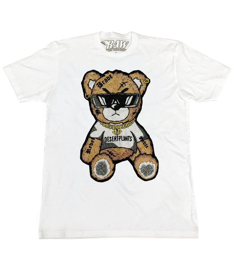 Teddy Hand Made Beads Crew Neck