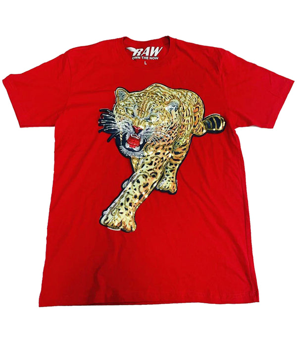 Tiger Hand Made Sequin Crew Neck