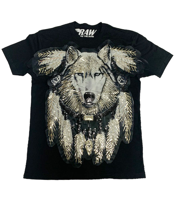 Wolf Hand Made Sequin Crew Neck
