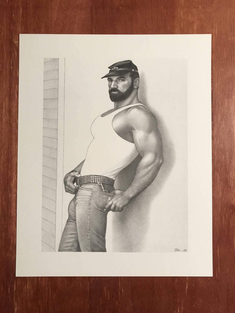"Tom of Finland 8 x 10 Print from the ""California '84"" Series Muscle Bear Daddy"