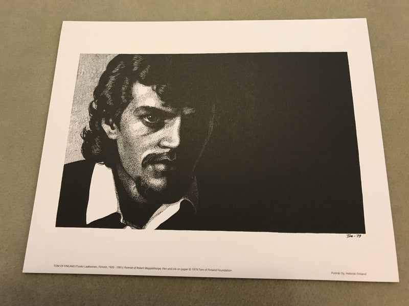 "Vintage Tom Of Finland Print ""Robert Mapplethorpe"" 11.75 x 9.5"