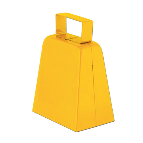 "Yellow 4"" High  Cowbell (1, 12 or 72)"