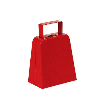 "4"" red cowbell"