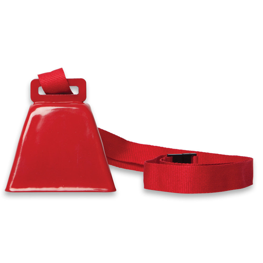 Red Cowbell on Lanyard (1 or 100)