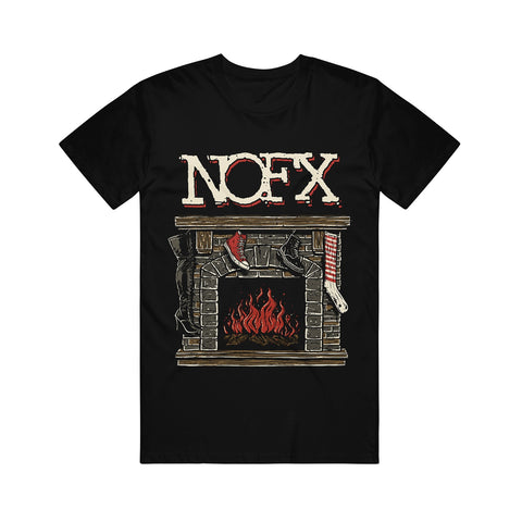 Fireplace Black T-Shirt