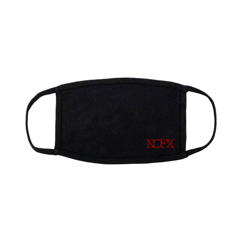 Red Logo Black Mask