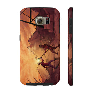 """Primitive Battle Scene"" Tough Phone Case"