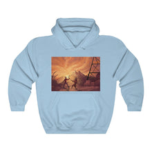 "Load image into Gallery viewer, ""Primative Battle Scene"" Unisex Hoodie/Jumper"