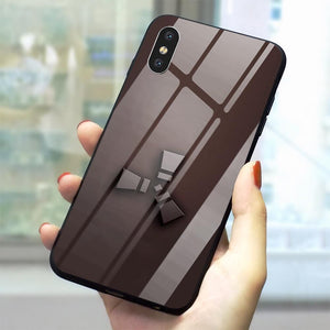 """Rust Themed"" Tempered Glass&Silicone Phone Case"