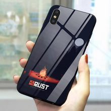 "Load image into Gallery viewer, ""Rust Themed"" Tempered Glass&Silicone Phone Case"