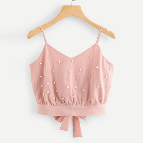 Chiffon Sleeveless Crop Tops