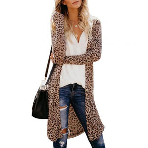 Sexy Fashion Camouflage Leopard Snakeskin Print Women's Long Sleeve Cardigan Jacket new women  Cardigans Free Shipping