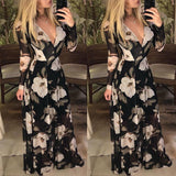 Elegant Boho Chiffon Long Maxi Dress