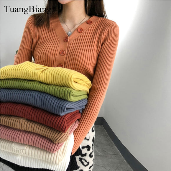 New Knitted Thick elasticity Pullovers Autumn Winter Jumpers Ladies