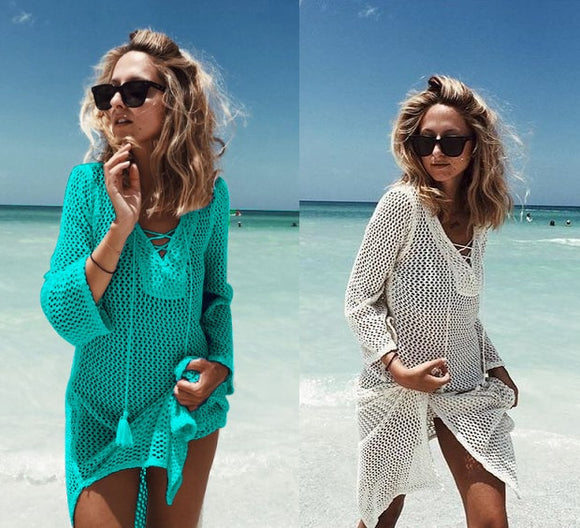Knitted Beach Cover-Up
