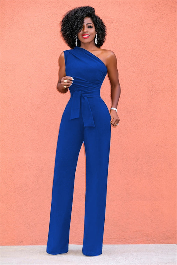 Sexy One Shoulder Romper/jumpsuit