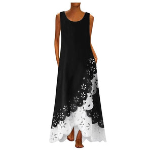 Vintage Sleeveless Women Long Dresses