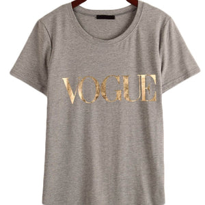 Vogue  Black T shirts Fashion  for Women