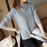 Solid O-Neck Casual Pullover