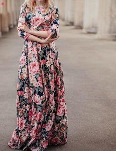 Most trendy floral print maxi dress