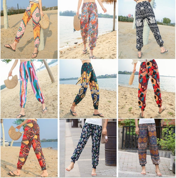 Cotton casual harem pants