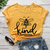 Bee kind graphics Casual tees
