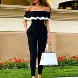 Off The Shoulder Trendy & Casual Jumpsuit