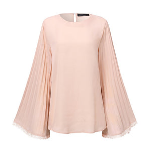 New fashion Long Flare Sleeve Lace Top