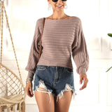One-shoulder Sweater Women Casual Sexy Pullover