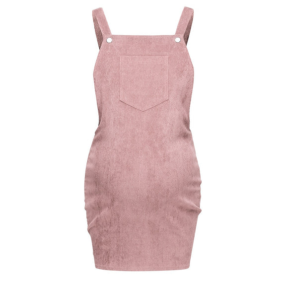 Solid Sling Vest maternity dress