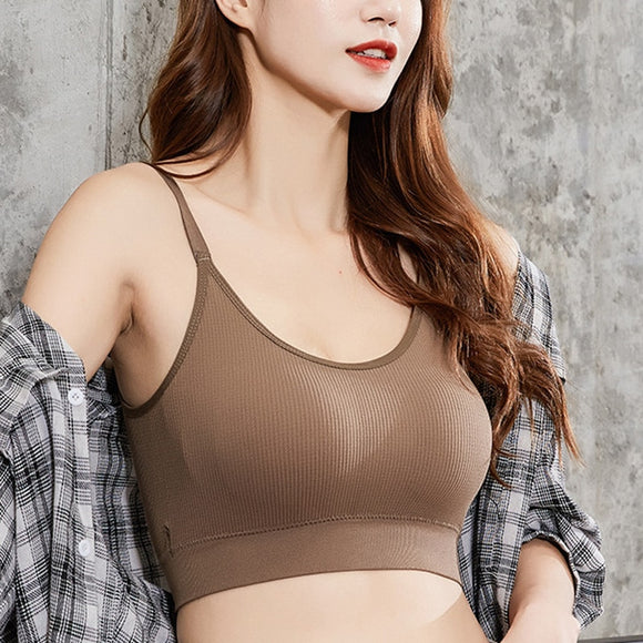 Adjustable Shoulder Strap Deep U Back Sports Bra