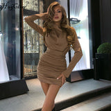 Ruched pure sexy mini dress