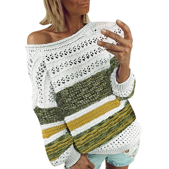 O-Neck Hollow Knitted sweater