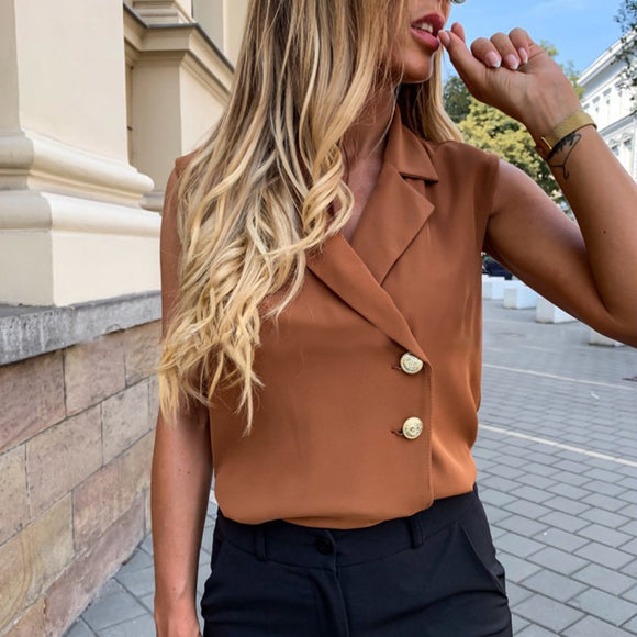Vintage Collar Casual Blouse
