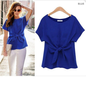 Loose Short Sleeve Casual Chiffon top