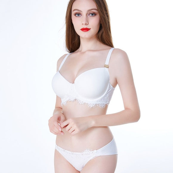 Adjustable Strap Super Soft Bra Set