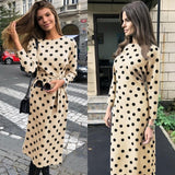 Vintage Polka Dot Printed Elegant Dress