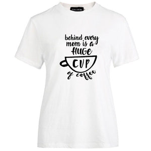Funny Letters Print Casual Tees