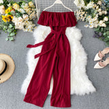Latest Fashionable Ruffles Sexy Jumpsuit
