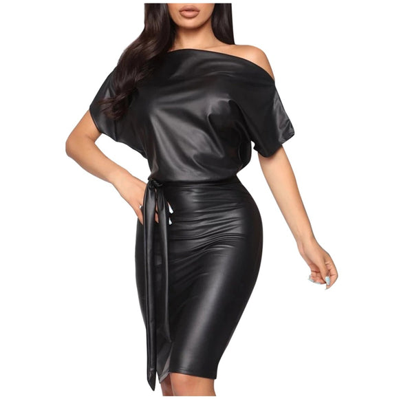 Tukshen Leather Dress