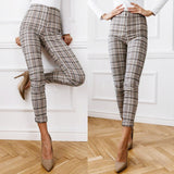Plaid pants for women