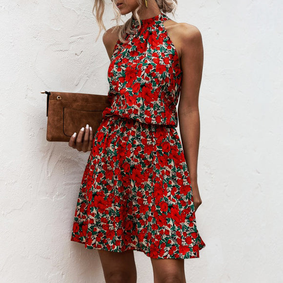 Summer Sexy Halter Vintage Dress