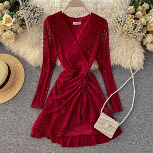 V-neck Elegant Dress