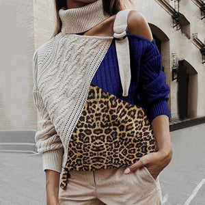 One-shoulder 2020 sweater