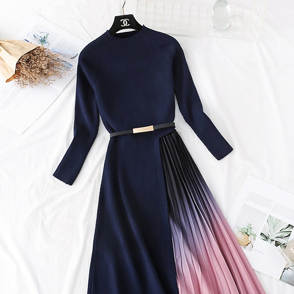 Elegant pleated dress
