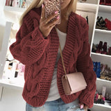 Casual Long Sleeve Knitted Cardigan