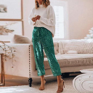 High Waisted Sequin Pant