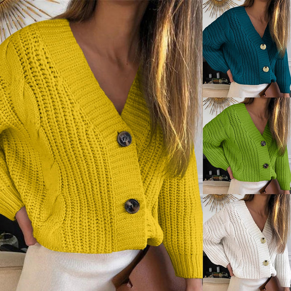 Knitted V neck Cardigans