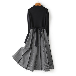 Jacquard Long Knit Dress