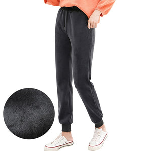 Fur Cashmere Slim Harem Pants